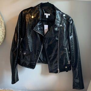 Topshop Faux patent Leather Jacket